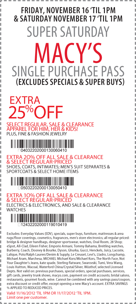 Macys Coupons. Macys is an Online site featuring the latest fashion brands on Women's and Men's clothing, Accessories, Jewelry, Beauty, Shoes, Home Products, and more! Today's top offer gets you 20% off your Purchase! How to Use Your Macys Coupon. 1) .