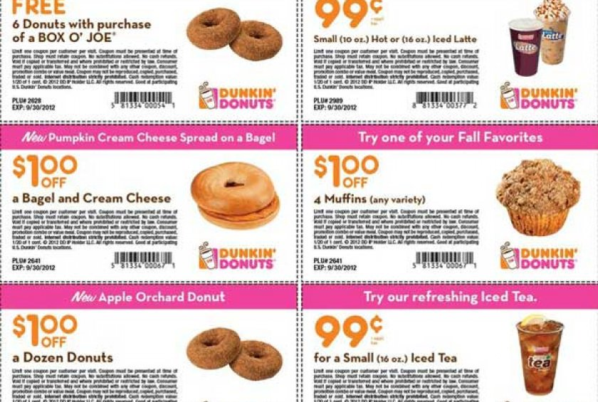 dunkin donuts online promo code