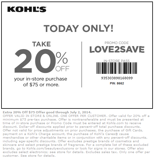 new-Kohls Coupons