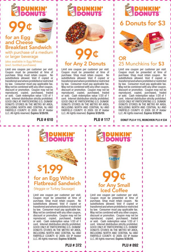 picture regarding Printable Coffee Coupons known as Dunkin Donuts Coupon codes April and Could Printable Discount coupons On the net