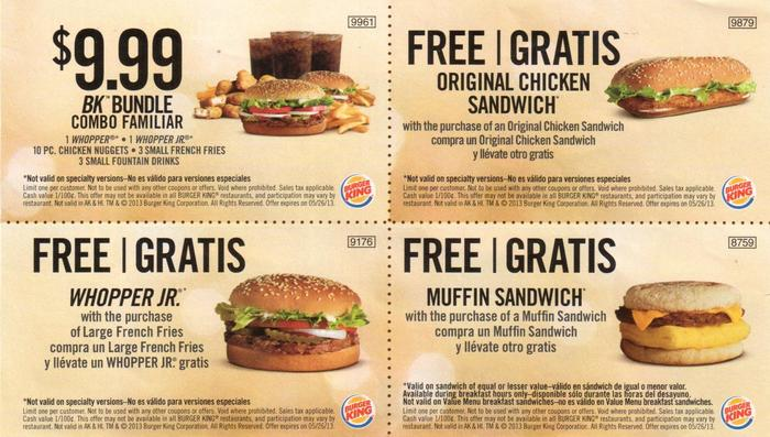 Shopping Tips for Burger King: 1. If you're buying gift cards on behalf of a company and spend at least $1,, you'll qualify for a bulk discount. 2. Score bonus savings with Burger King printable coupons that can be scanned at the register. Check for the delivery option that will help you save time as well. 3.