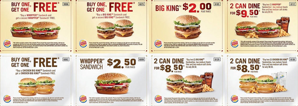Burger king coupons august 2019
