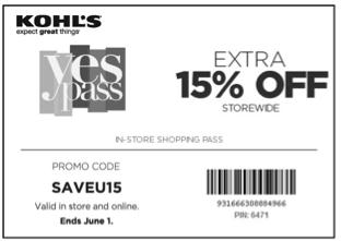 Kohls 15 off printable coupon2017