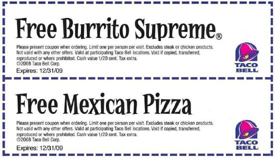 graphic about Taco Bell Printable Coupons called june-Taco-Bell-Printable-Coupon Printable Coupon codes On the web