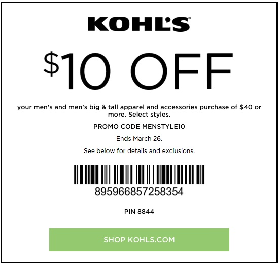 Kohls coupon code june 2019