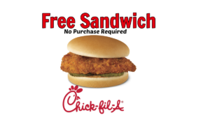 Free Chick-Fil-A Chicken Sandwich,free-chickfila-Spicy Chicken Sandwich coupons