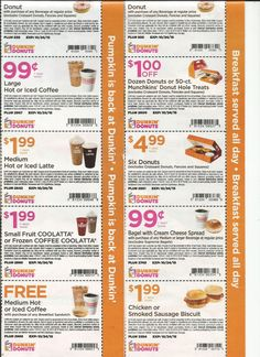 bagels-dunkin donuts coupons