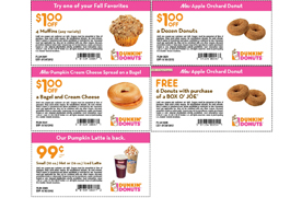 Dunkin donuts printable coupons dozen