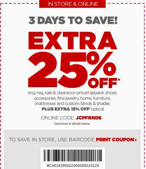 codes-free JCPenney Coupons for october 2017