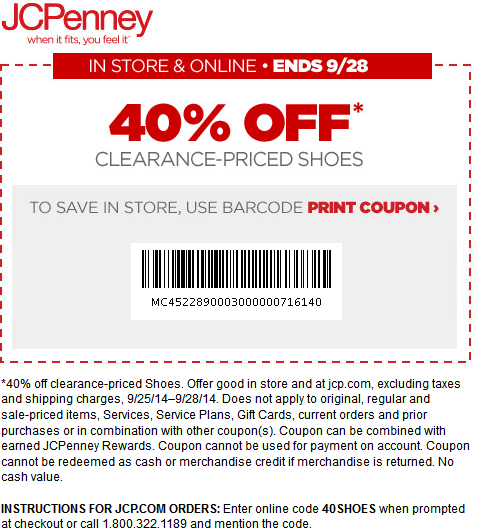 online-free JCPenney Coupons for october 2017