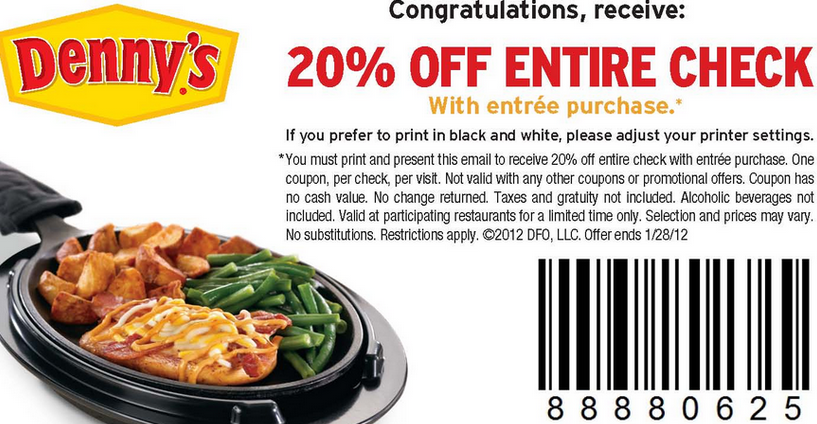 Printable Dennys Coupons | Printable Coupons Online