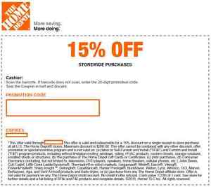 The popular online Home Depot 10% off coupon that used to be found at tgzll.ml is not currently being offered. Thanks to information provided by The Home Depot Social Media, we've learned that THD rotates a variety of benefits in that program, and the 10% off coupon .