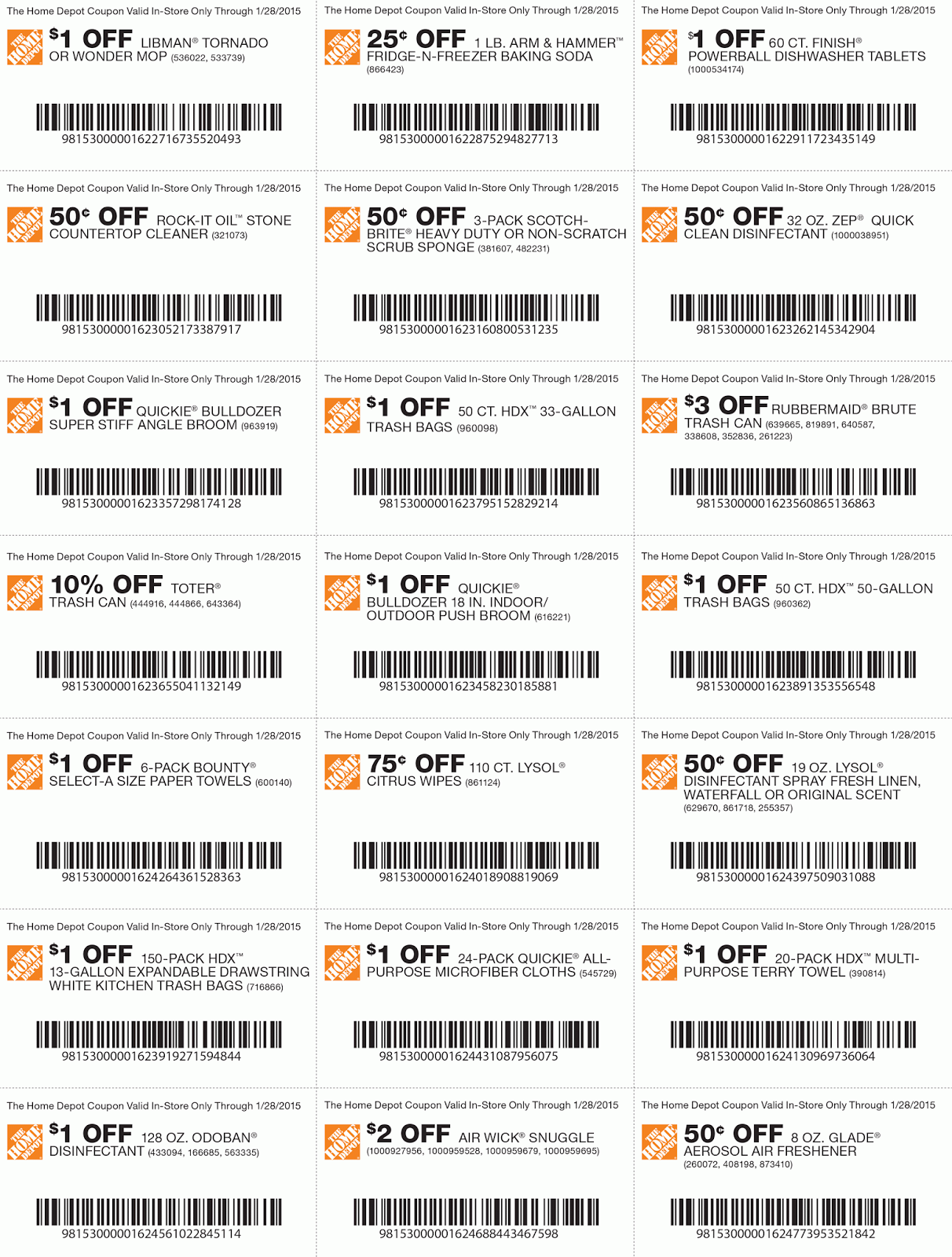 Oct November Home Depot Coupons | Printable Coupons Online