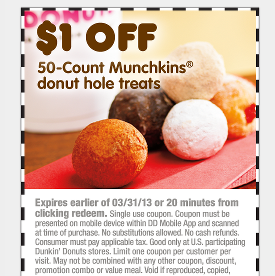 Dunkin Donuts coupons and new promo deals 2018