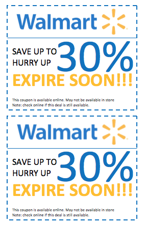 Walmart promo codes and coupons exist for both online and in-store savings. Browse dvushifpv.gq to see what Walmart deals exist on electronics, toys, apparel, household items, and more. Get an even better deal by checking out the Walmart Value of the Day, which offers up to 60% off a desirable item%(K).