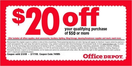 Office Depot Coupons Printing