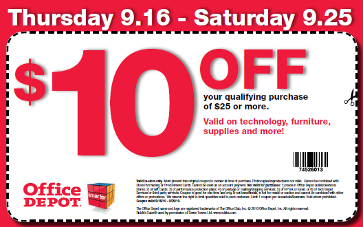 Coupon code office depot