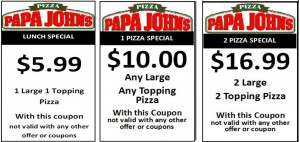 picture about Papa Johns Printable Coupons identified as Papa johns $5 pizza Coupon Printable Coupon codes On the web