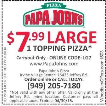 Free papa john's pizza coupon code hack