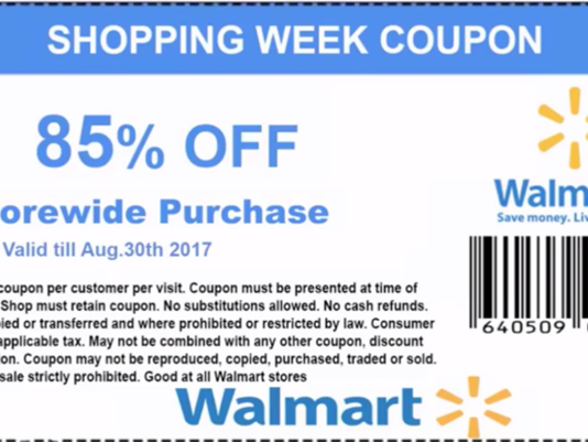 Discount coupon for walmart