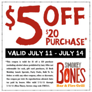 smokey bones – 2017 Restaurant-coupons