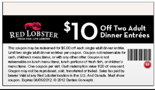 red lobster promo