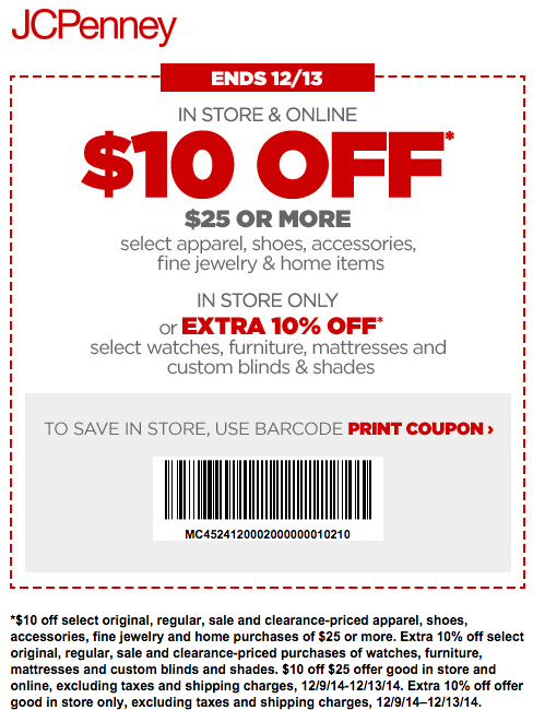 10 Off 1 Printable 2018 Jcpenney Printable Coupons
