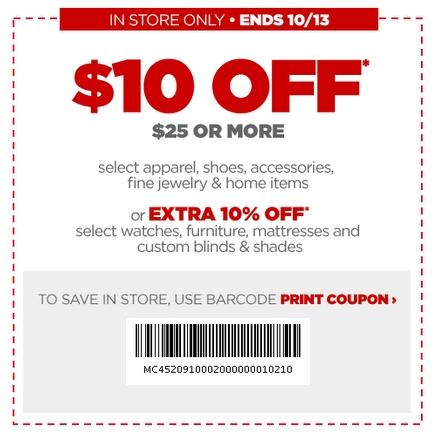 10 Off Printable 2018 Jcpenney Printable Coupons Printable