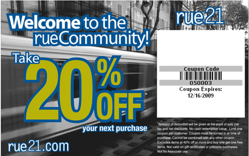 image about Rue 21 Coupon Printable known as Rue 21 Discount codes for 2018 Printable Coupon codes On the net