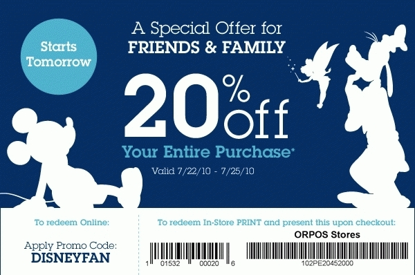 photo relating to Disney Store Coupons Printable called Disney Coupon codes for 2018 Printable Discount coupons On-line