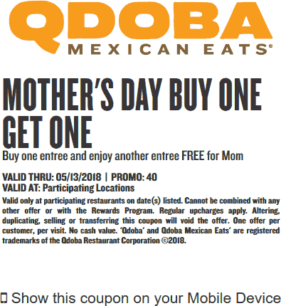 picture about Qdoba Printable Coupons known as foods-qdoba-discount coupons-printable-2018 Printable Discount coupons On the internet