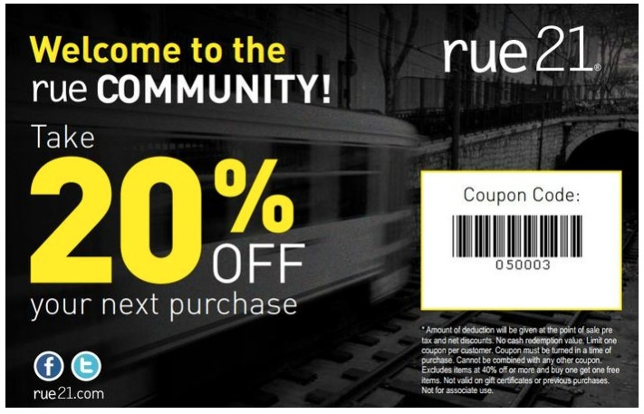 photograph about Rue 21 Printable Coupons called rue-21-coupon-20-off-apple iphone-printable Printable Discount coupons On line