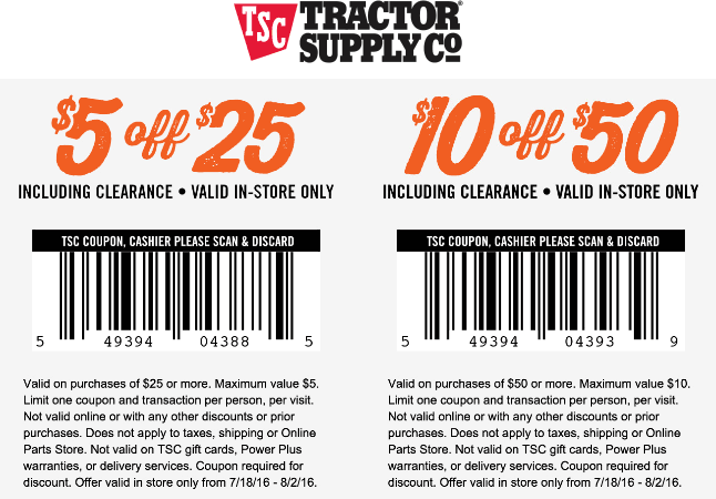 photograph relating to Printable Tractor Supply Coupon named 2018-Tractor Provide Coupon codes Printable Coupon codes On the internet