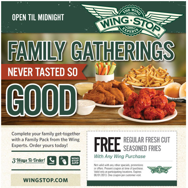 photograph about Wingstop Printable Menu known as WingStop Absolutely free Printable Discount coupons Printable Discount coupons On the net