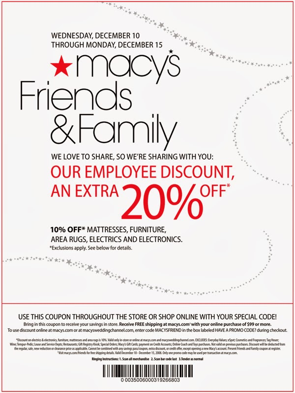 Macy's Text Coupons