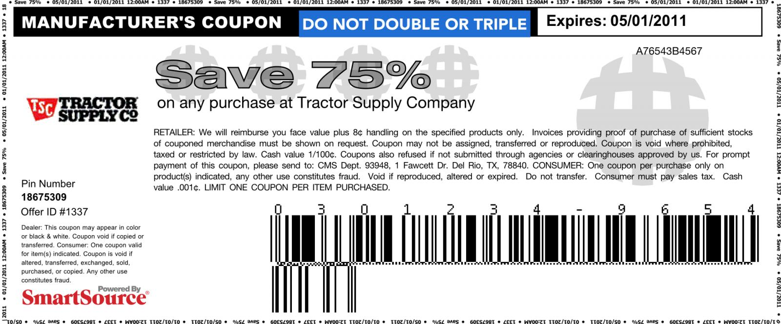 Printable Retail Tractor Supply Coupons Printable Coupons