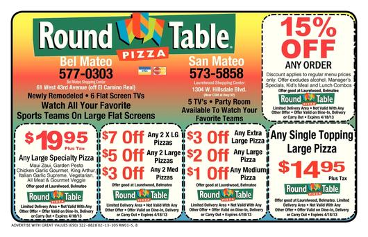 photograph regarding Round Table Pizza Printable Coupons identified as sheet-refreshing Spherical Desk Pizza Coupon codes Printable Discount coupons On-line