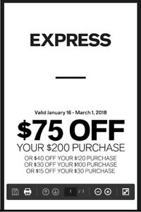image relating to Express Coupons Printable 30 Off 75 referred to as Printable Clean Convey Coupon codes Printable Discount coupons On the web