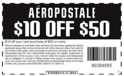 Unreliable P.S. From Aeropostale Coupons & Promo codes
