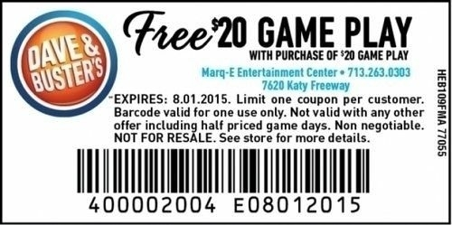 graphic regarding Dave and Busters Printable Coupons titled Dave And Busters Printable Discount codes Ideal Printable Recommendations