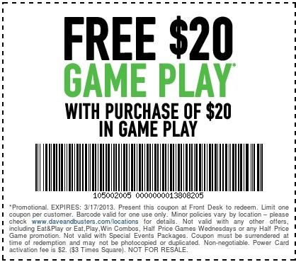 photo relating to Famous Dave's Printable Coupons named Locate The Simplest Dave and Busters Discount codes Printable Coupon codes