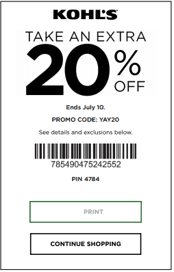 Kohls Valid Coupon 2019 Printable Coupons Online