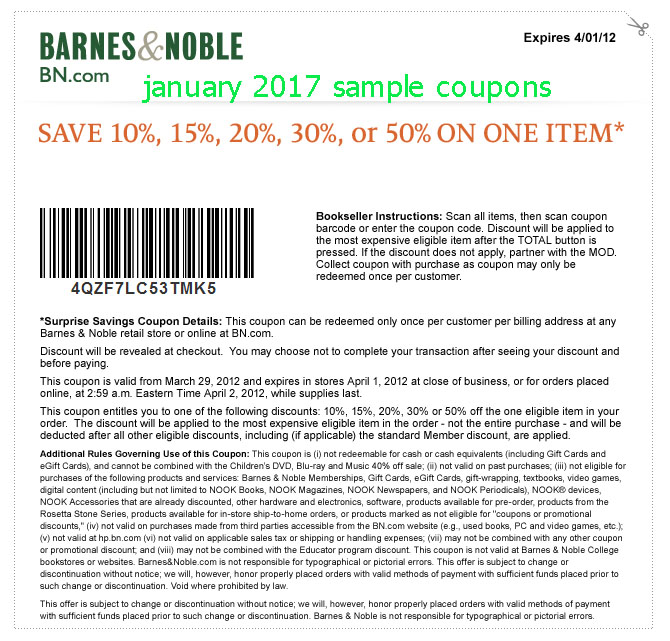 Holiday Barnes And Noble Coupons Printable Coupons Online