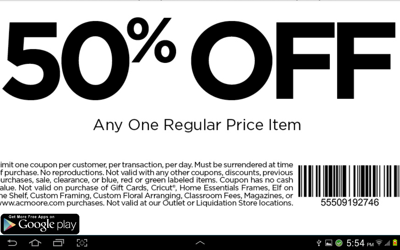 Ac Moore Crafts Coupons Printable Coupons Online