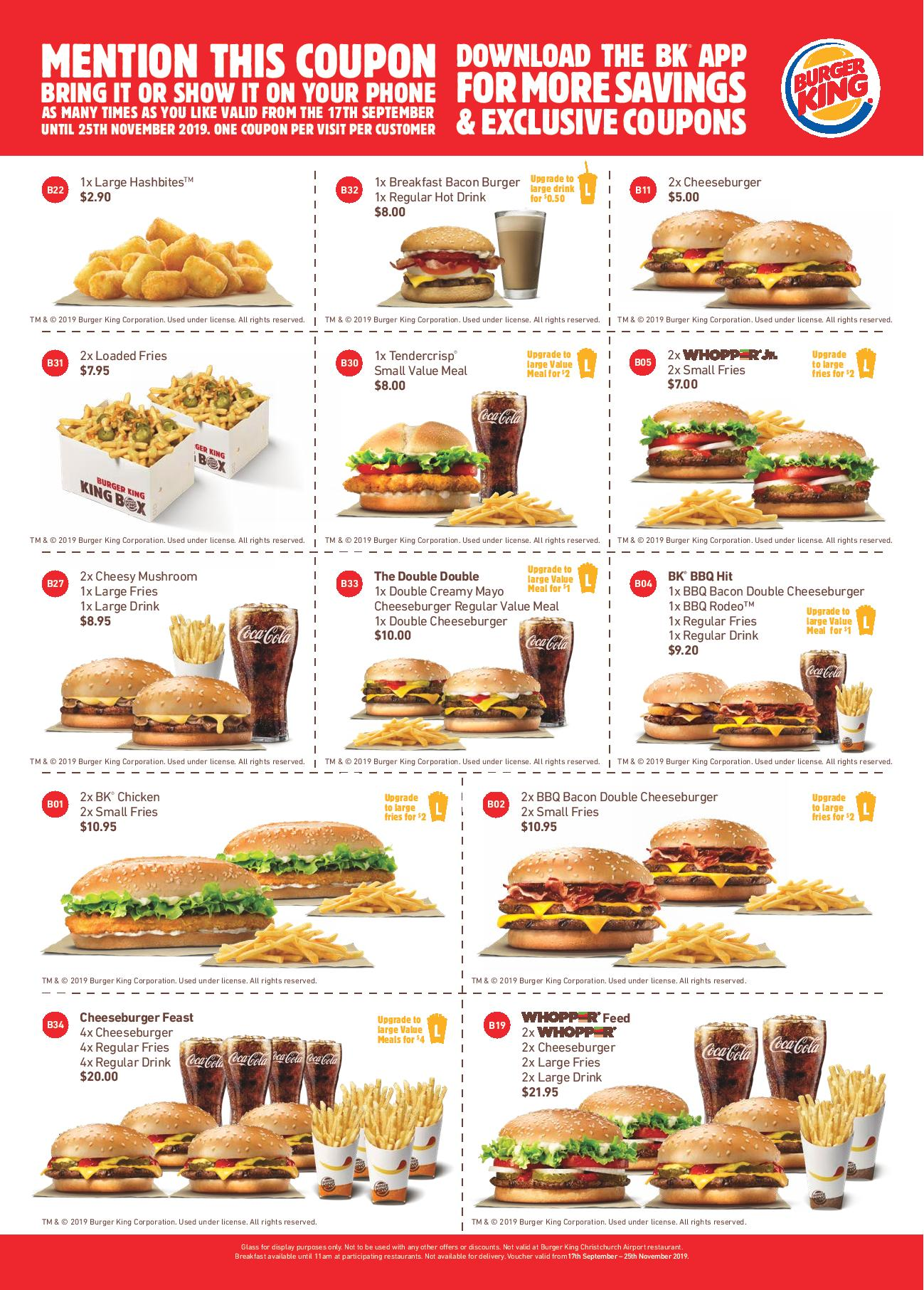 Burger King Coupons For 2020 Printable Coupons Online