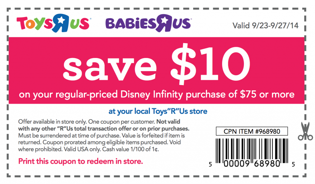 Toys r us coupon 2018 october