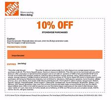 10 Percent Phone Goods The Home Depot Retail Coupon