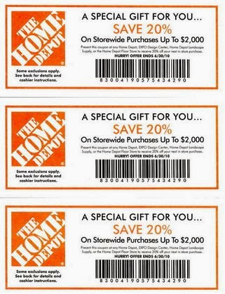 August 2017 Home Depot Coupon