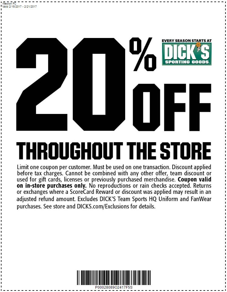 Dicks sporting goods print coupons